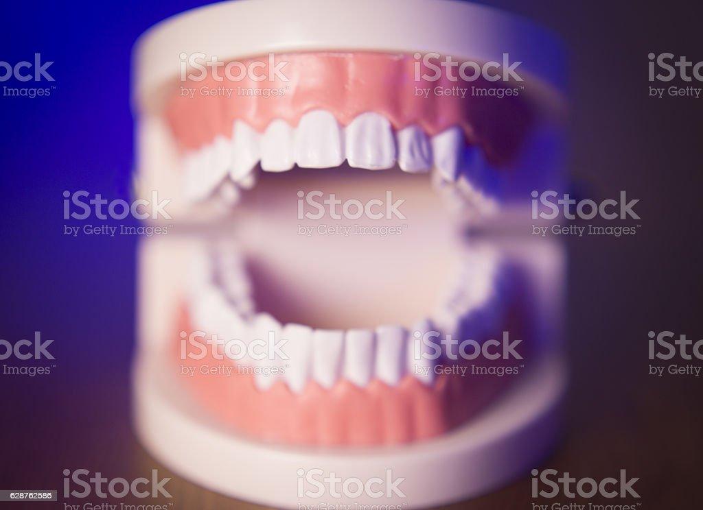 Denture without transparent orthodontics stock photo
