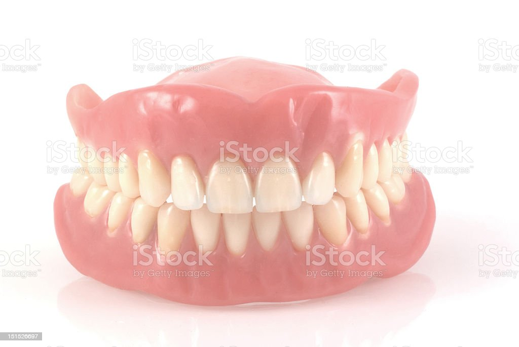 Dentures. stock photo
