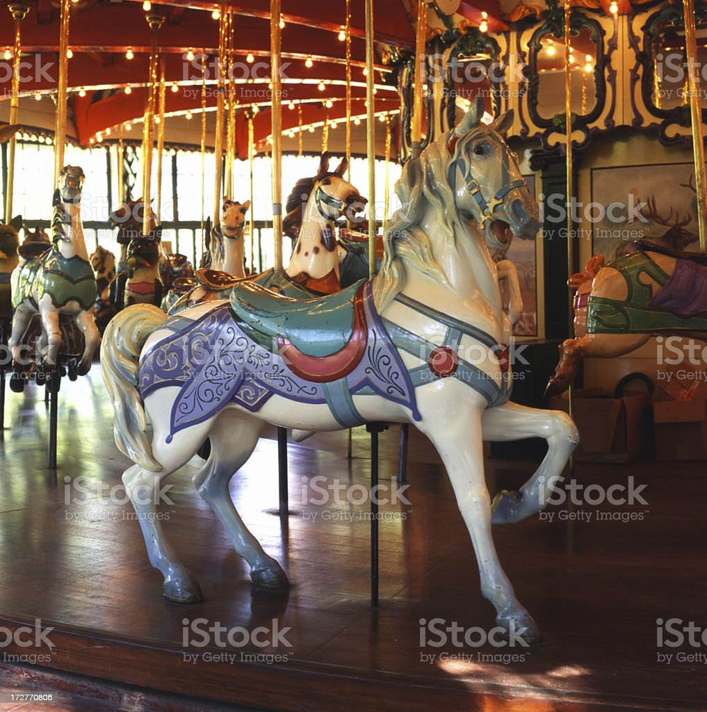 Dentzel Carousel Horse royalty-free stock photo