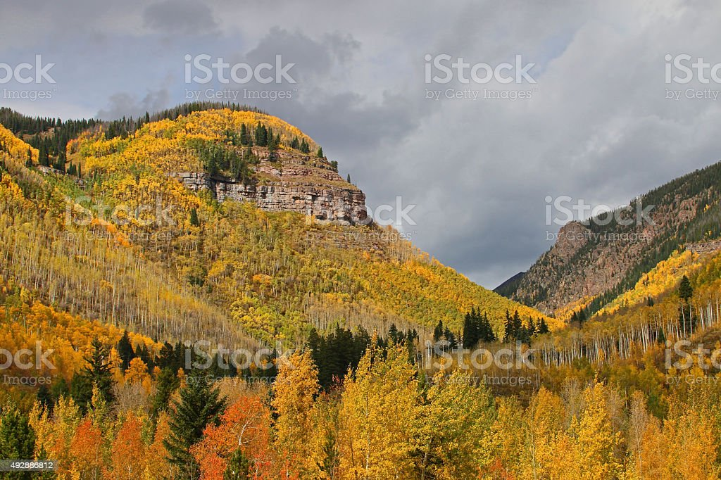 Denver Area Mountains In The Fall stock photo