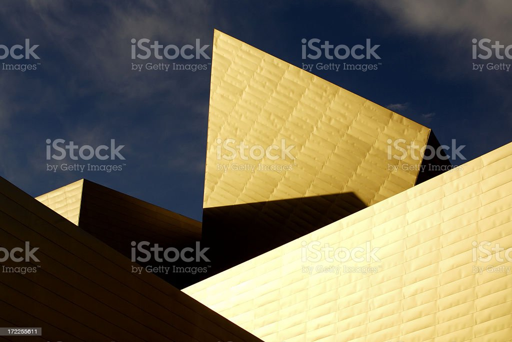 Denver Art Museum - Abstract Architecture stock photo