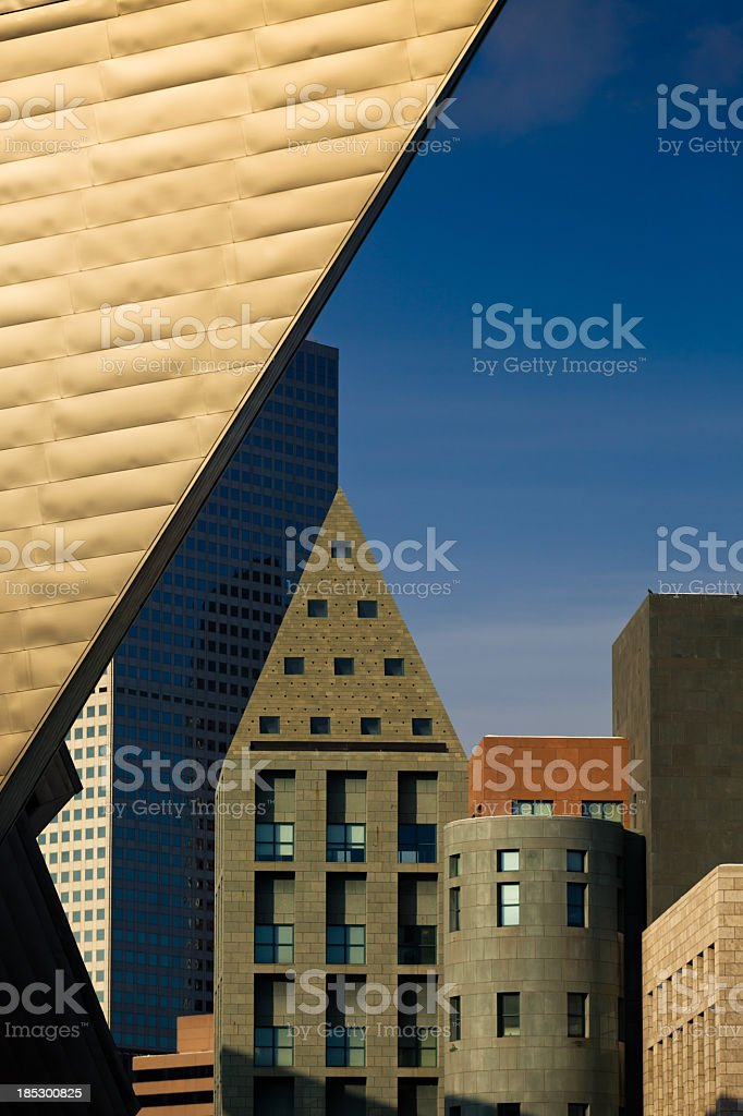 Denver Art Museum and Library Complex stock photo
