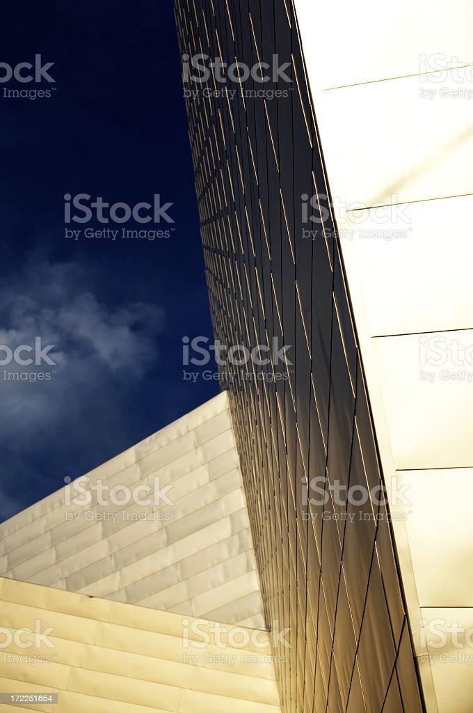 Denver Art Museum Architectural Detail stock photo