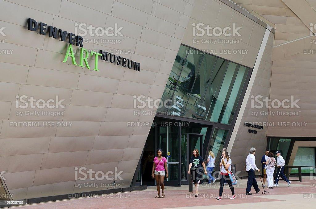 Denver Art Museum stock photo