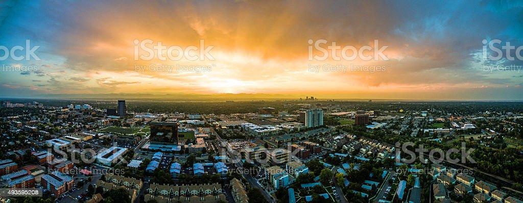 Denver at Sunset stock photo