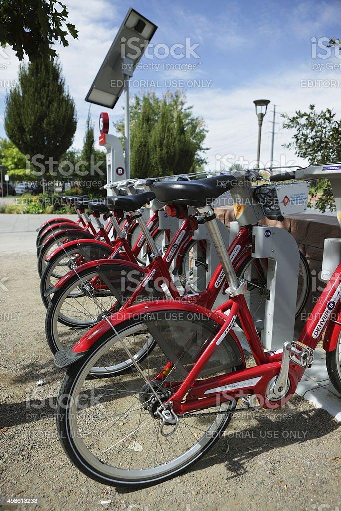 Denver Bike Share Station stock photo