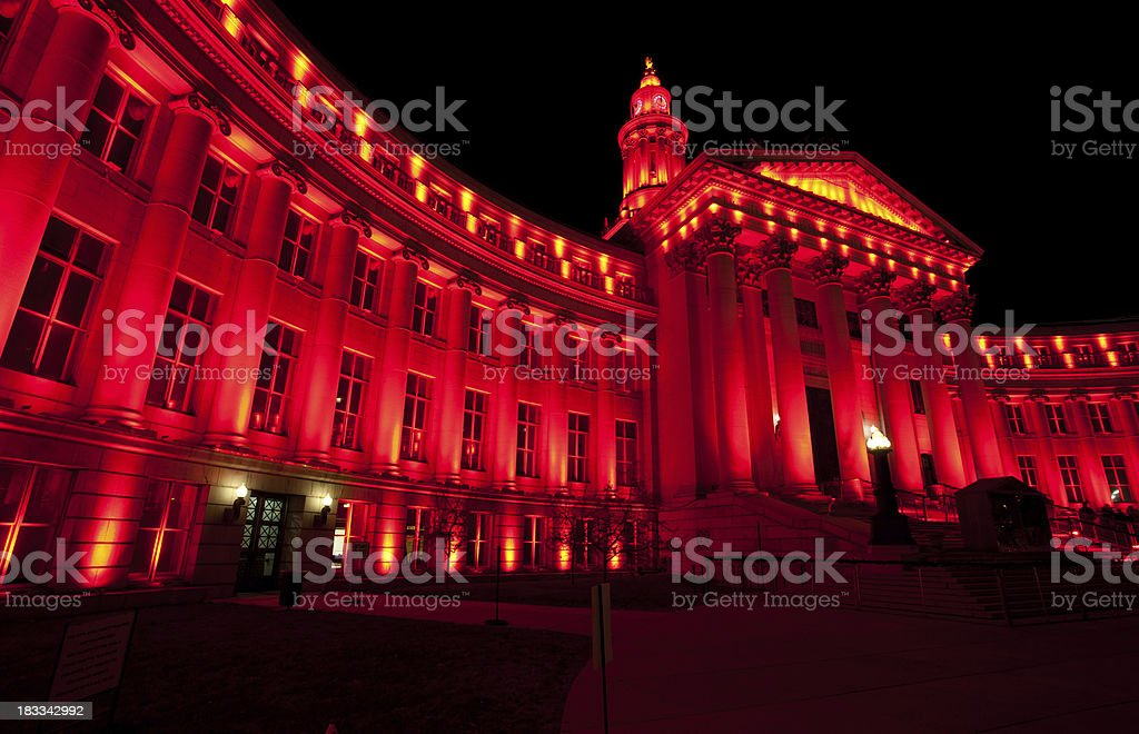 Denver City and County Building Holiday Lights stock photo