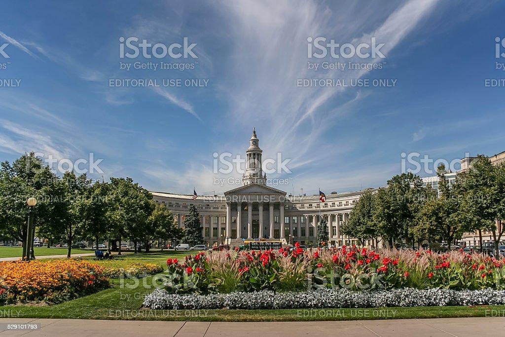 Denver city and county building in Colorado stock photo