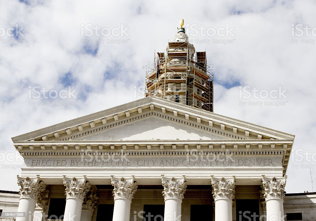 Denver City and County Building under Construction stock photo