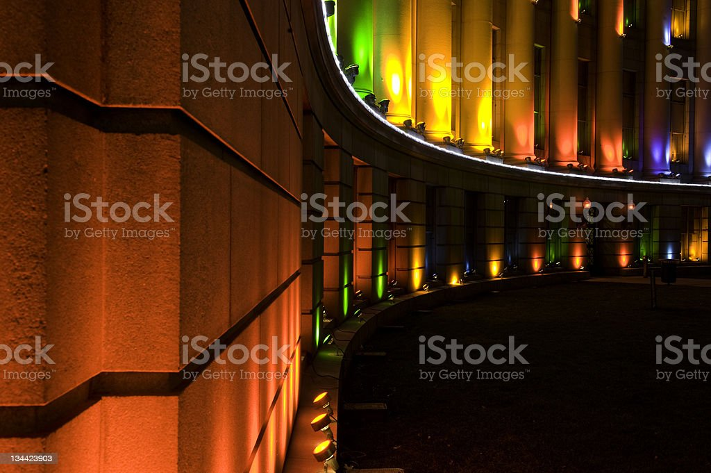 Denver City and County Building with Christmas Lights stock photo