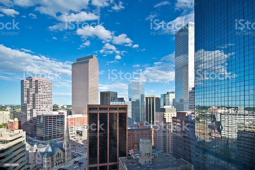 Denver Colorado Downtown Financial District stock photo