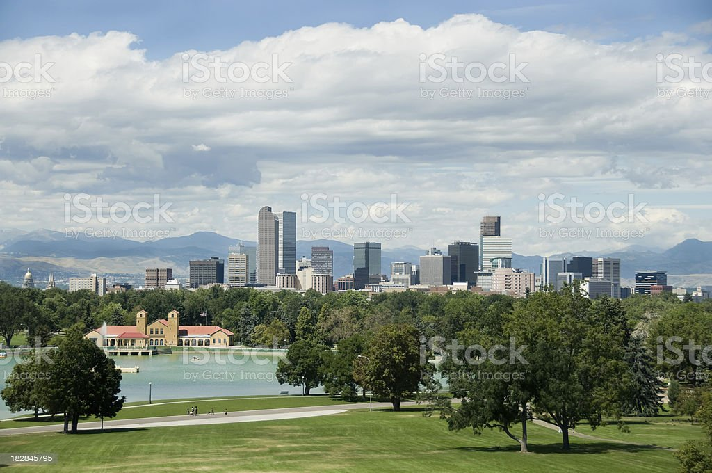 Denver COlorado downtown royalty-free stock photo