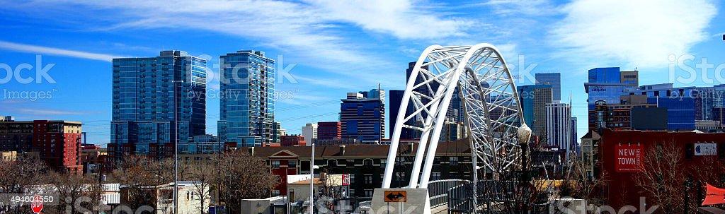 Denver, Colorado downtown riverfront stock photo
