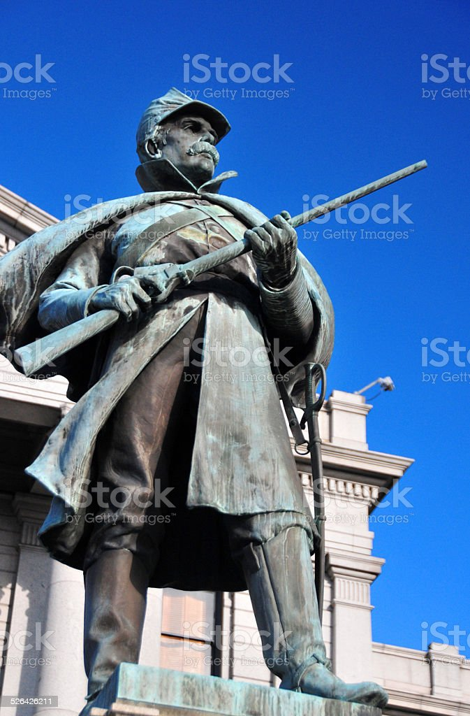 Denver, Colorado, USA: Civil War monument (1909) stock photo