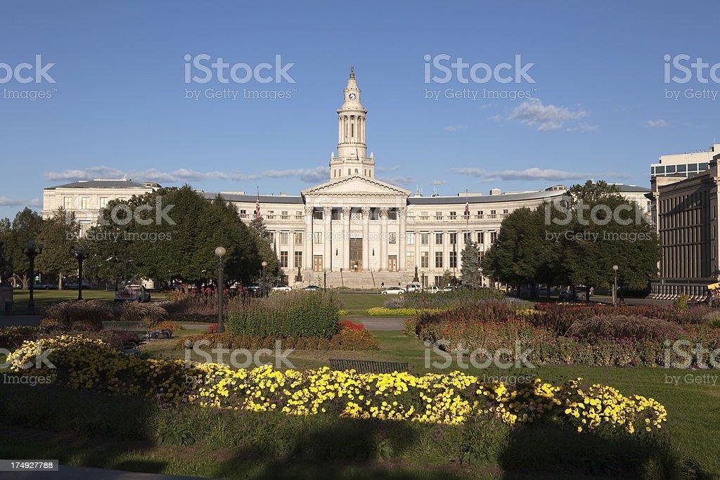 Denver County Courthouse and Civic Center Park Colorado stock photo