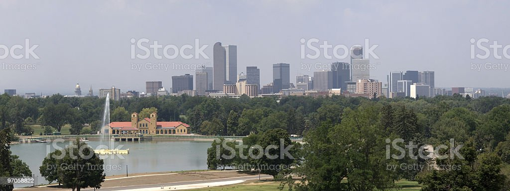 Denver downtown Panorama royalty-free stock photo