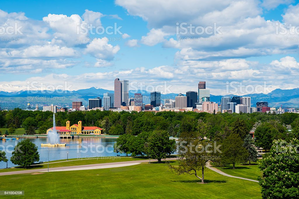 Denver downtown stock photo
