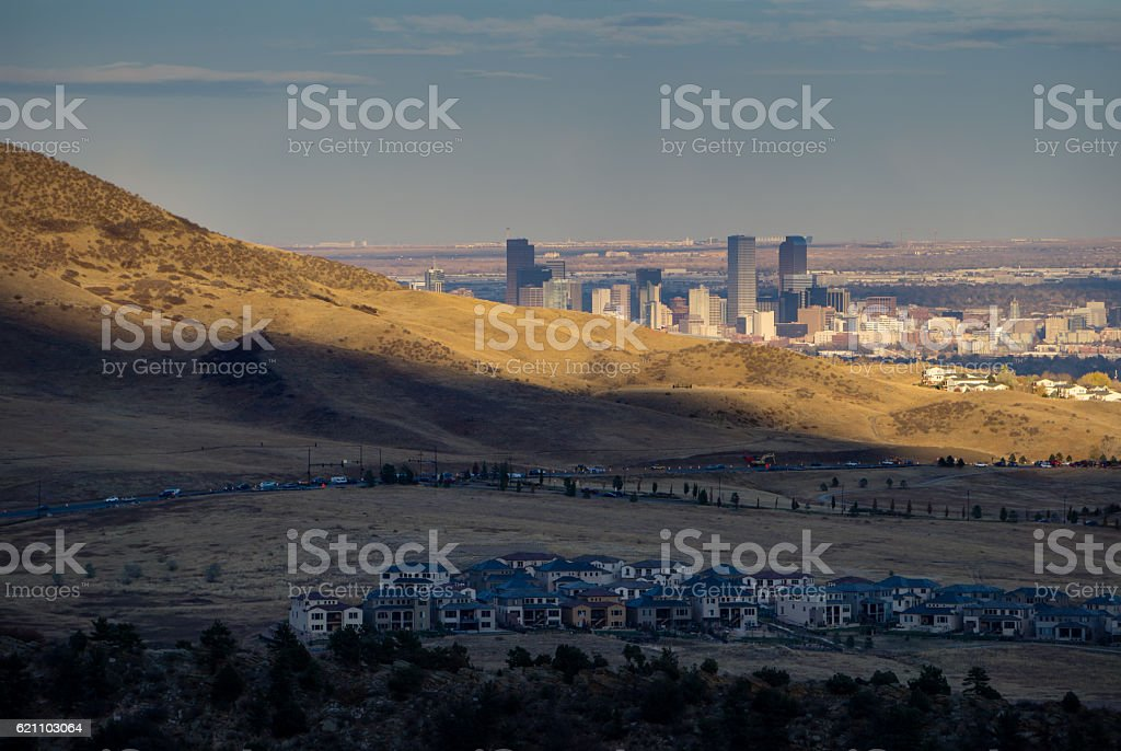 Denver From The Foothills stock photo