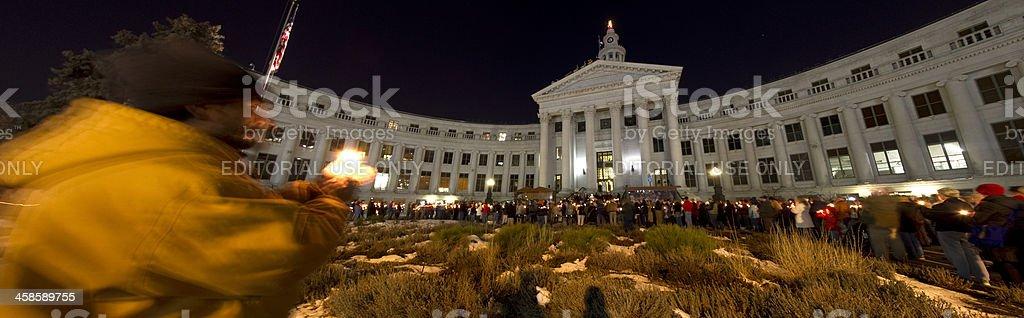 Denver Homeless Persons Memorial Service stock photo