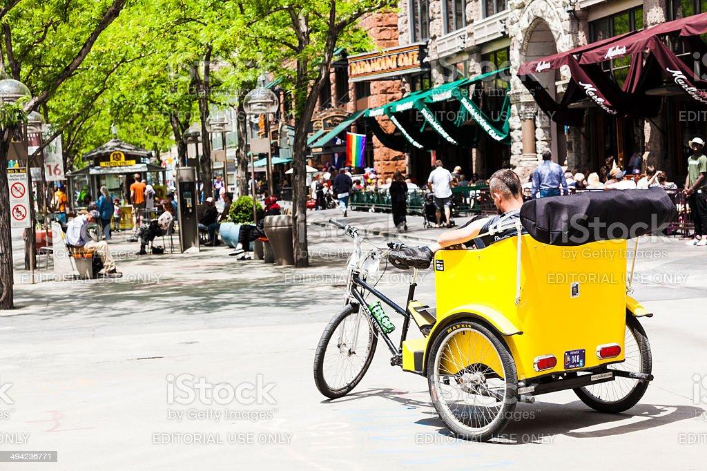 Denver pedicab stock photo