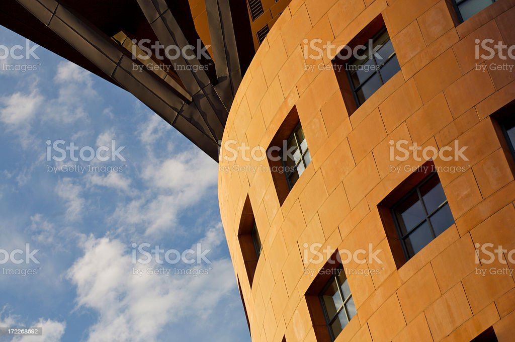Denver Public Library - Abstract Architecture stock photo