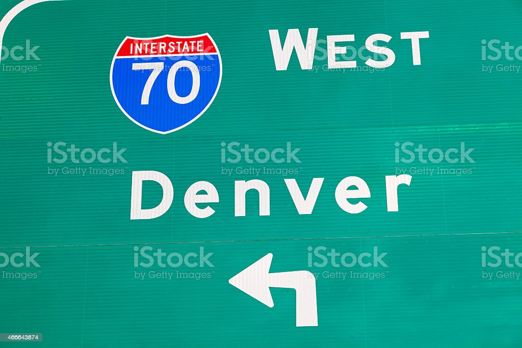 Denver sign stock photo