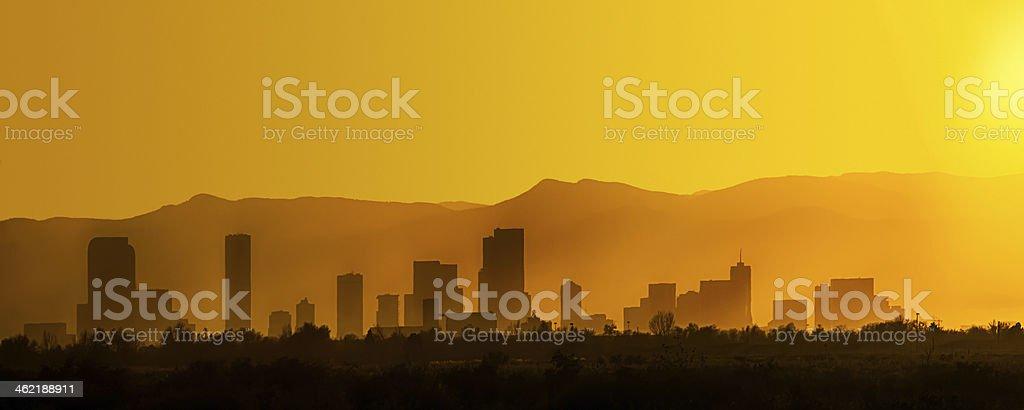 Denver Silhouette stock photo