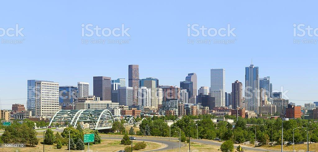 Denver Skyline Panorama 2010 stock photo