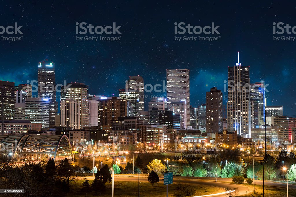 Denver Skyline stock photo