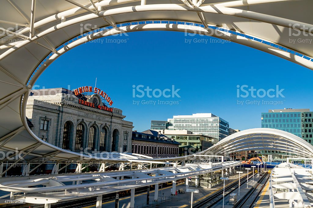 Denver Union Station Train Depot stock photo
