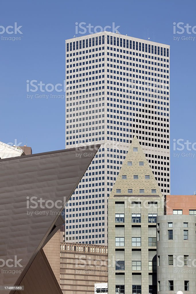 Denver's modern architecture Colorado stock photo