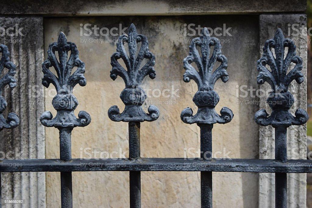 Deocrative Iron Fence Posts stock photo
