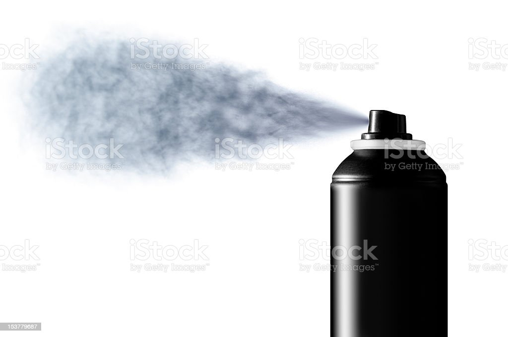 Deodorant spray mist royalty-free stock photo