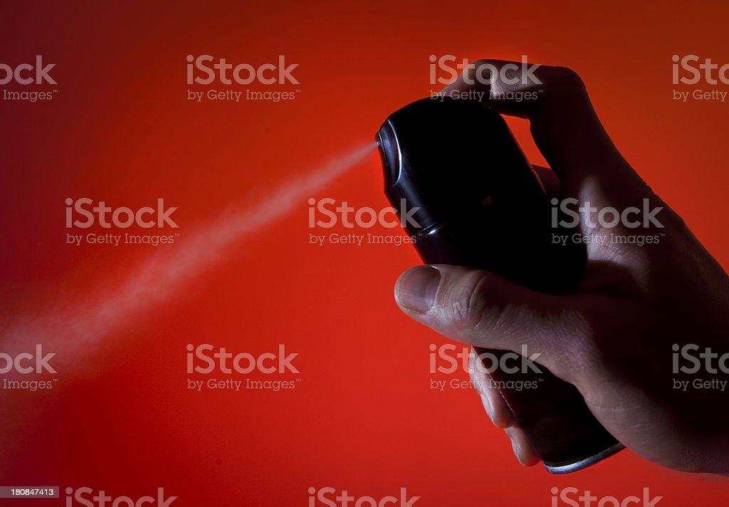 Deodorant spray royalty-free stock photo
