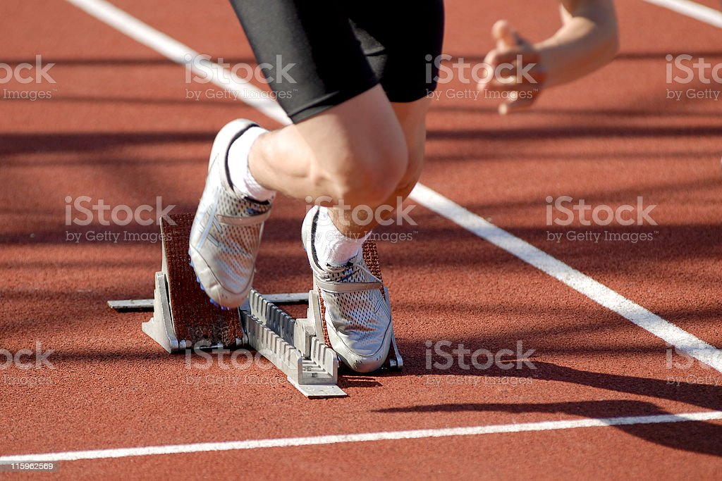 depart de sprint royalty-free stock photo