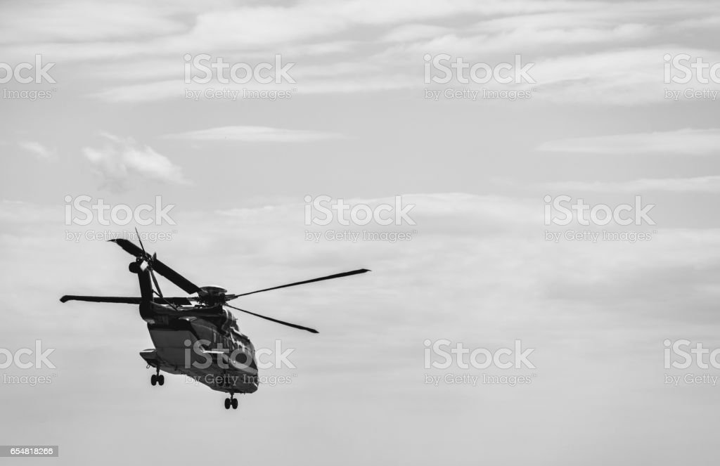 Departing Helicopter stock photo