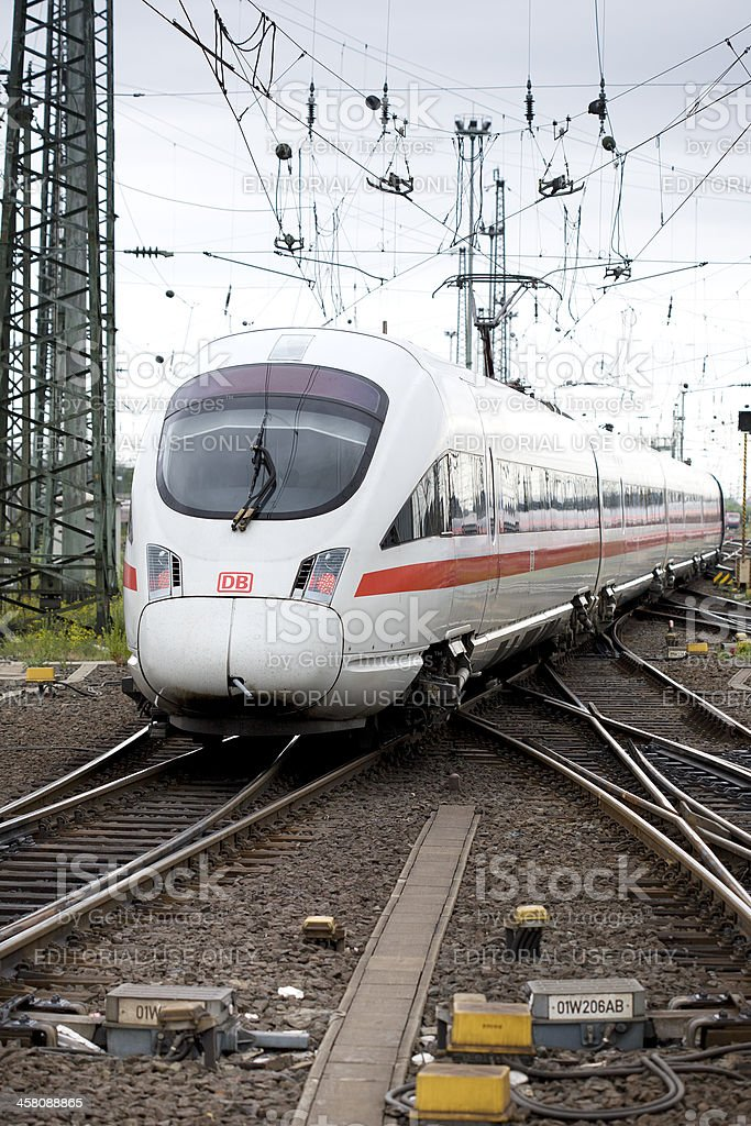 Departing ICE train stock photo