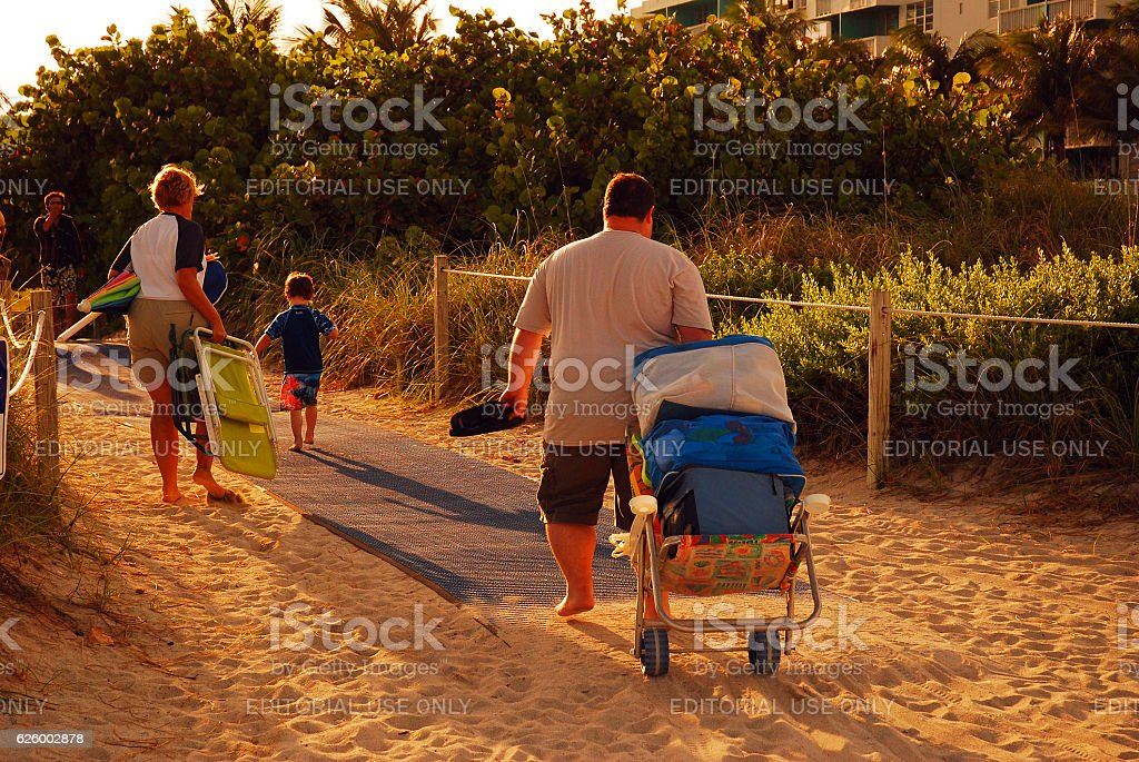 Departing the Beach stock photo