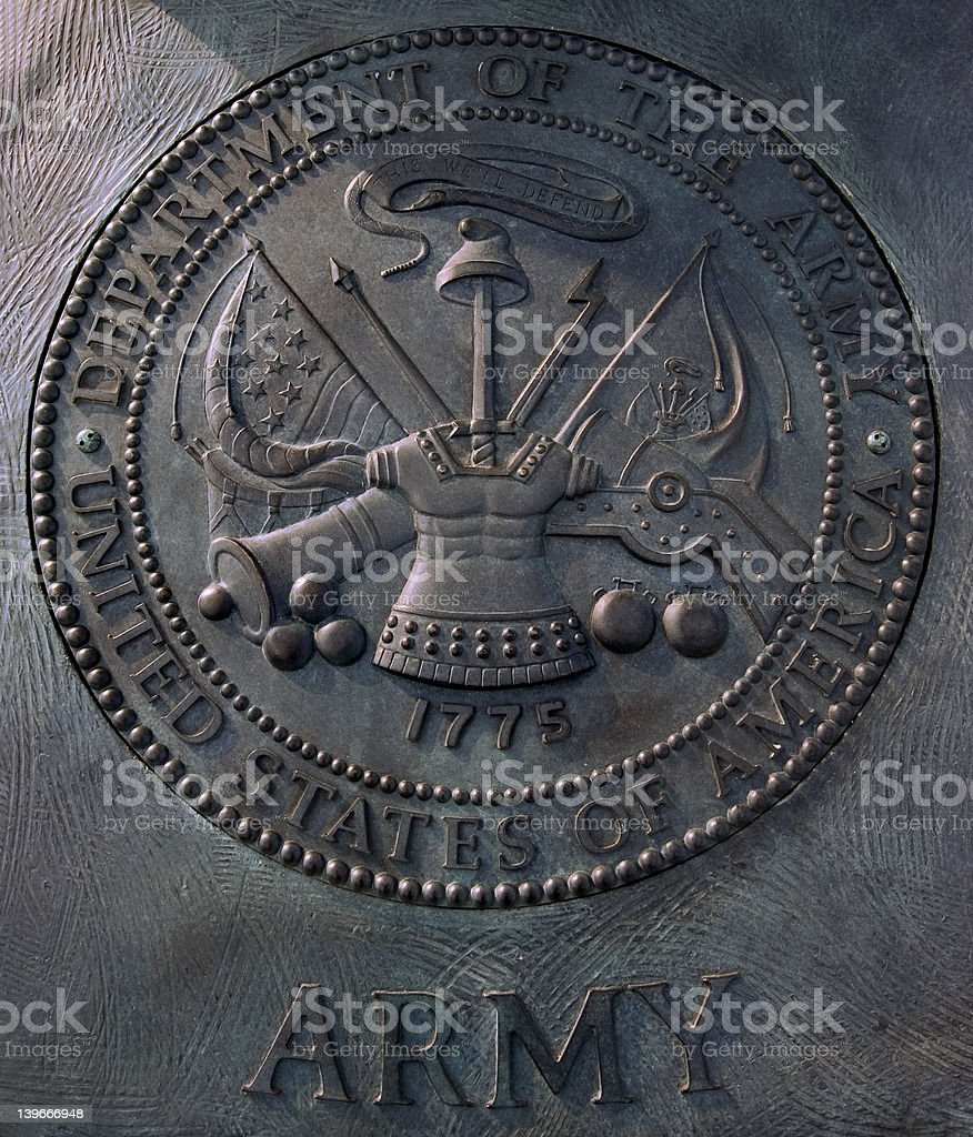 department of army arms royalty-free stock photo