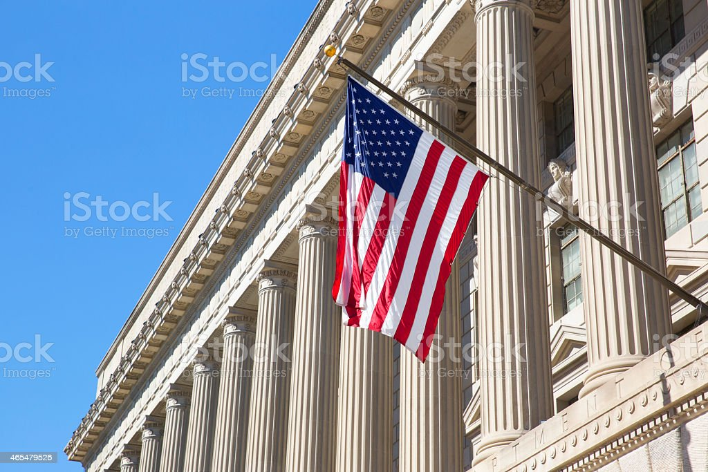 Department of Commerce in Washington stock photo