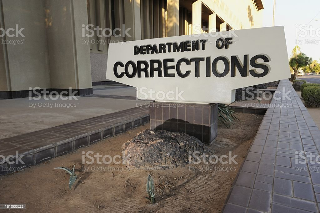 Department of corrections stock photo