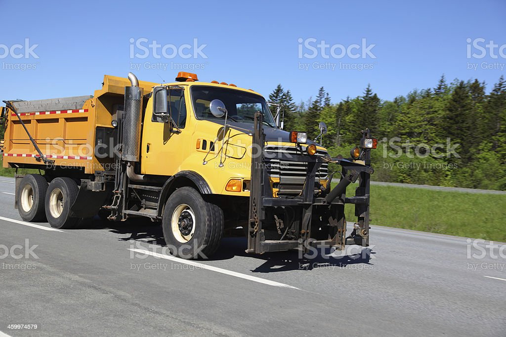 Department of highways dump truck royalty-free stock photo