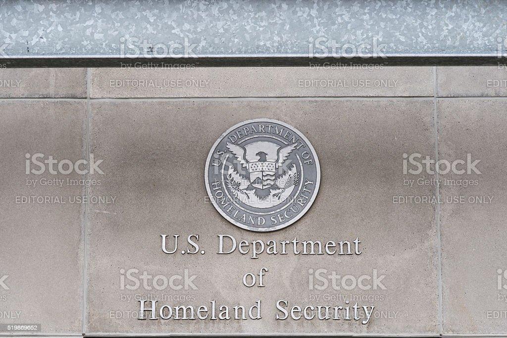 U.S, Department of Homeland Security stock photo