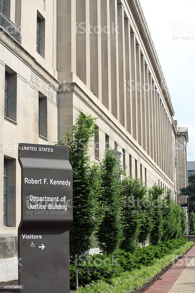 Department of Justice Building stock photo