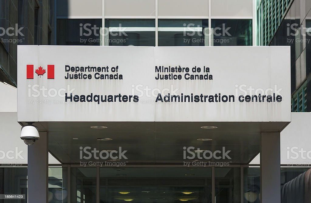 Department of Justice Canada Headquarters stock photo