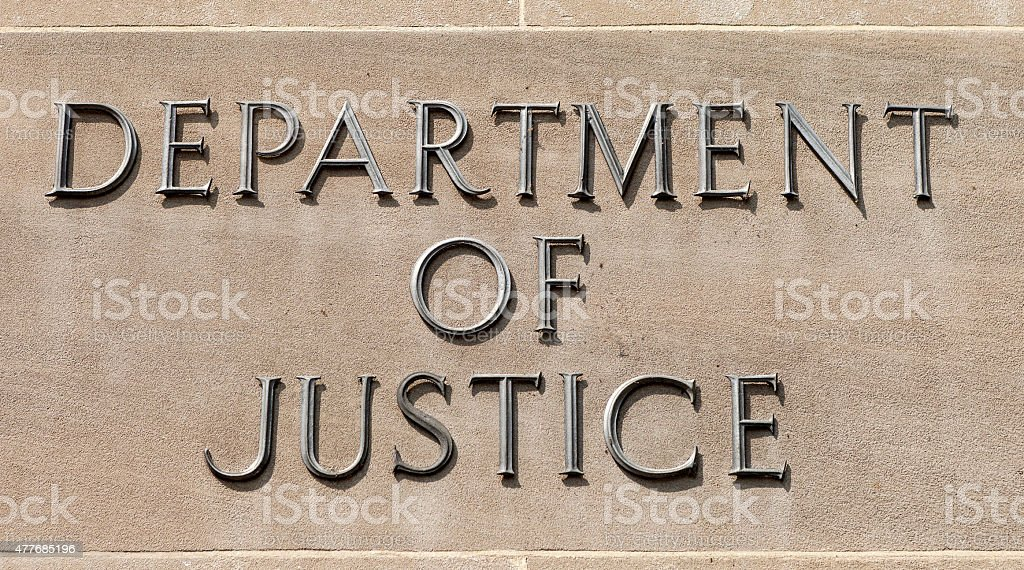 Department Of Justice In Washington DC stock photo