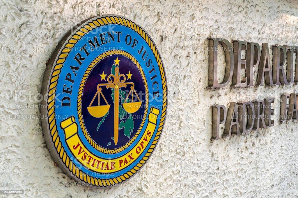 Department of Justice, Manila stock photo