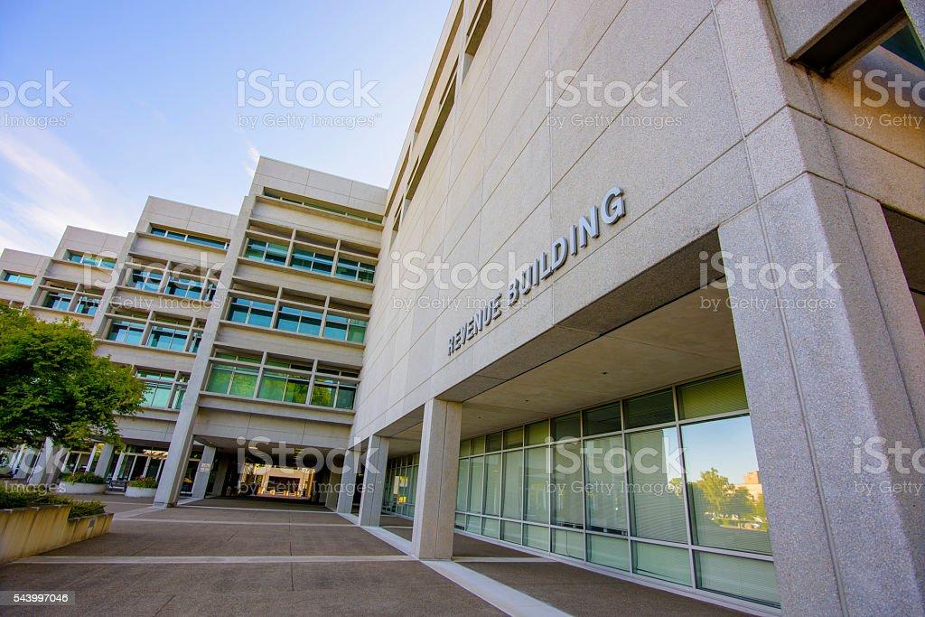 Department of Revenue Building stock photo