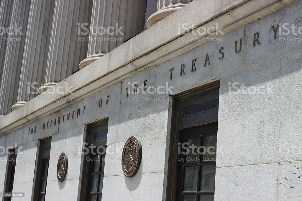 Department of the Treasury Building stock photo