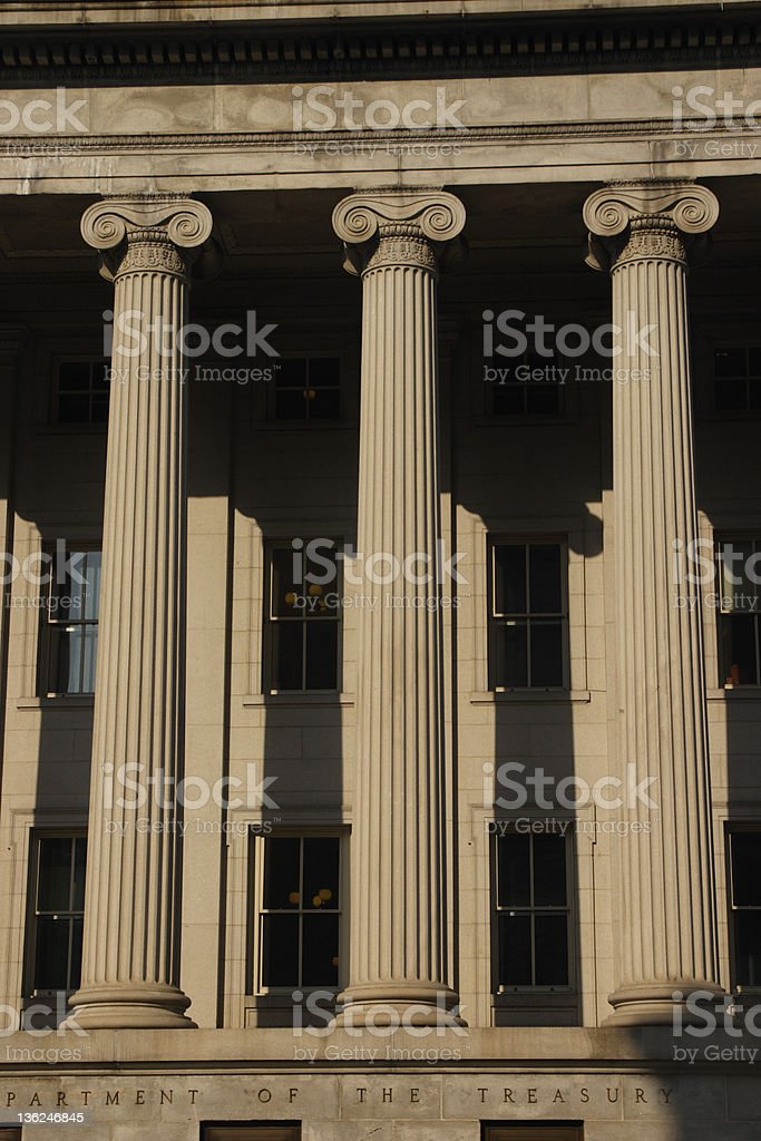 Department of the Treasury stock photo